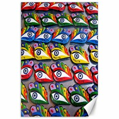 The Eye Of Osiris As Seen On Mediterranean Fishing Boats For Good Luck Canvas 24  x 36