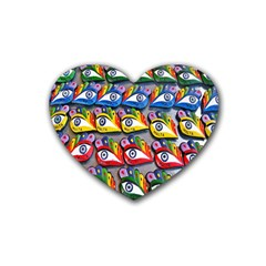 The Eye Of Osiris As Seen On Mediterranean Fishing Boats For Good Luck Heart Coaster (4 Pack)