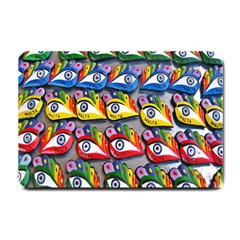The Eye Of Osiris As Seen On Mediterranean Fishing Boats For Good Luck Small Doormat