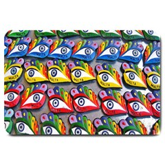 The Eye Of Osiris As Seen On Mediterranean Fishing Boats For Good Luck Large Doormat