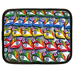 The Eye Of Osiris As Seen On Mediterranean Fishing Boats For Good Luck Netbook Case (large)