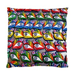 The Eye Of Osiris As Seen On Mediterranean Fishing Boats For Good Luck Standard Cushion Case (two Sides)