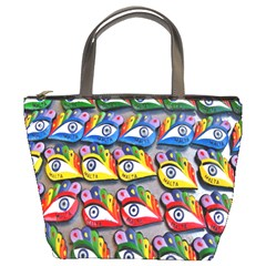 The Eye Of Osiris As Seen On Mediterranean Fishing Boats For Good Luck Bucket Bags