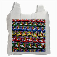 The Eye Of Osiris As Seen On Mediterranean Fishing Boats For Good Luck Recycle Bag (Two Side)