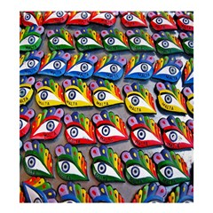 The Eye Of Osiris As Seen On Mediterranean Fishing Boats For Good Luck Shower Curtain 66  x 72  (Large)