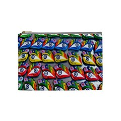 The Eye Of Osiris As Seen On Mediterranean Fishing Boats For Good Luck Cosmetic Bag (Medium)