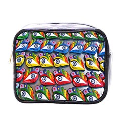 The Eye Of Osiris As Seen On Mediterranean Fishing Boats For Good Luck Mini Toiletries Bags