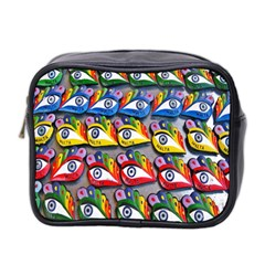 The Eye Of Osiris As Seen On Mediterranean Fishing Boats For Good Luck Mini Toiletries Bag 2 Side