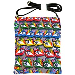 The Eye Of Osiris As Seen On Mediterranean Fishing Boats For Good Luck Shoulder Sling Bags