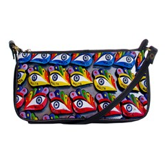 The Eye Of Osiris As Seen On Mediterranean Fishing Boats For Good Luck Shoulder Clutch Bags