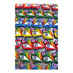 The Eye Of Osiris As Seen On Mediterranean Fishing Boats For Good Luck Shower Curtain 48  x 72  (Small)