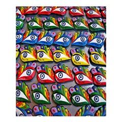 The Eye Of Osiris As Seen On Mediterranean Fishing Boats For Good Luck Shower Curtain 60  x 72  (Medium)