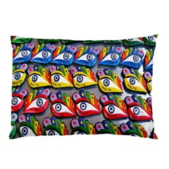 The Eye Of Osiris As Seen On Mediterranean Fishing Boats For Good Luck Pillow Case (Two Sides)