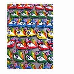 The Eye Of Osiris As Seen On Mediterranean Fishing Boats For Good Luck Large Garden Flag (two Sides)