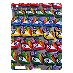 The Eye Of Osiris As Seen On Mediterranean Fishing Boats For Good Luck Apple iPad 3/4 Hardshell Case