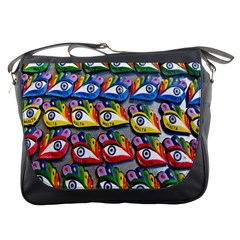 The Eye Of Osiris As Seen On Mediterranean Fishing Boats For Good Luck Messenger Bags
