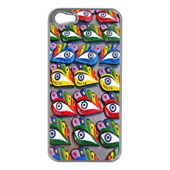 The Eye Of Osiris As Seen On Mediterranean Fishing Boats For Good Luck Apple iPhone 5 Case (Silver)