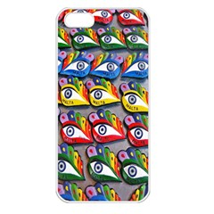 The Eye Of Osiris As Seen On Mediterranean Fishing Boats For Good Luck Apple Iphone 5 Seamless Case (white)