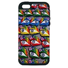 The Eye Of Osiris As Seen On Mediterranean Fishing Boats For Good Luck Apple Iphone 5 Hardshell Case (pc+silicone)