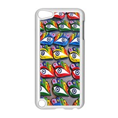 The Eye Of Osiris As Seen On Mediterranean Fishing Boats For Good Luck Apple iPod Touch 5 Case (White)
