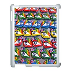 The Eye Of Osiris As Seen On Mediterranean Fishing Boats For Good Luck Apple iPad 3/4 Case (White)