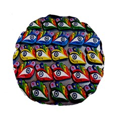 The Eye Of Osiris As Seen On Mediterranean Fishing Boats For Good Luck Standard 15  Premium Round Cushions