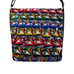 The Eye Of Osiris As Seen On Mediterranean Fishing Boats For Good Luck Flap Messenger Bag (l)