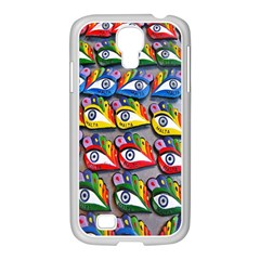 The Eye Of Osiris As Seen On Mediterranean Fishing Boats For Good Luck Samsung GALAXY S4 I9500/ I9505 Case (White)