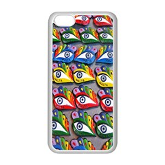 The Eye Of Osiris As Seen On Mediterranean Fishing Boats For Good Luck Apple iPhone 5C Seamless Case (White)