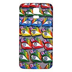The Eye Of Osiris As Seen On Mediterranean Fishing Boats For Good Luck Samsung Galaxy S5 Back Case (White)