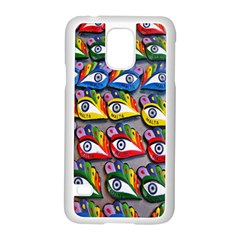 The Eye Of Osiris As Seen On Mediterranean Fishing Boats For Good Luck Samsung Galaxy S5 Case (white)
