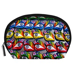 The Eye Of Osiris As Seen On Mediterranean Fishing Boats For Good Luck Accessory Pouches (large)