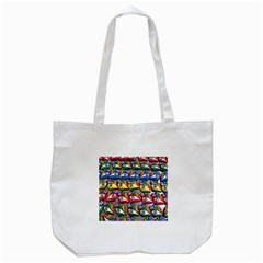 The Eye Of Osiris As Seen On Mediterranean Fishing Boats For Good Luck Tote Bag (White)