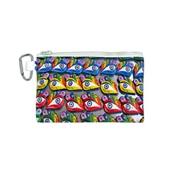 The Eye Of Osiris As Seen On Mediterranean Fishing Boats For Good Luck Canvas Cosmetic Bag (S)