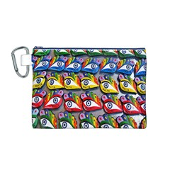 The Eye Of Osiris As Seen On Mediterranean Fishing Boats For Good Luck Canvas Cosmetic Bag (m)