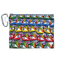 The Eye Of Osiris As Seen On Mediterranean Fishing Boats For Good Luck Canvas Cosmetic Bag (xl)