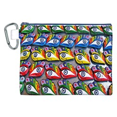 The Eye Of Osiris As Seen On Mediterranean Fishing Boats For Good Luck Canvas Cosmetic Bag (xxl)