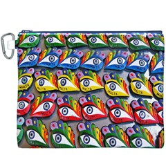 The Eye Of Osiris As Seen On Mediterranean Fishing Boats For Good Luck Canvas Cosmetic Bag (XXXL)