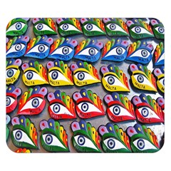 The Eye Of Osiris As Seen On Mediterranean Fishing Boats For Good Luck Double Sided Flano Blanket (small)