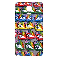 The Eye Of Osiris As Seen On Mediterranean Fishing Boats For Good Luck Galaxy Note 4 Back Case