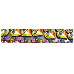 The Eye Of Osiris As Seen On Mediterranean Fishing Boats For Good Luck Flano Scarf (large)