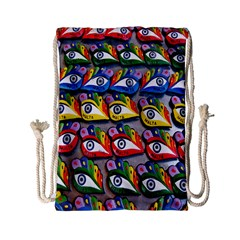 The Eye Of Osiris As Seen On Mediterranean Fishing Boats For Good Luck Drawstring Bag (small)