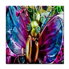 Magic Butterfly Art In Glass Tile Coasters