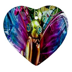 Magic Butterfly Art In Glass Ornament (Heart)