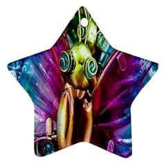 Magic Butterfly Art In Glass Ornament (Star)