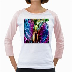 Magic Butterfly Art In Glass Girly Raglans