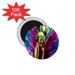 Magic Butterfly Art In Glass 1.75  Magnets (100 pack)