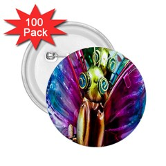 Magic Butterfly Art In Glass 2 25  Buttons (100 Pack)