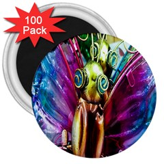 Magic Butterfly Art In Glass 3  Magnets (100 Pack)