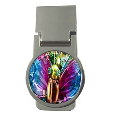 Magic Butterfly Art In Glass Money Clips (Round)